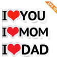 I LOVE YOU Sticker - - EPS10 vector image