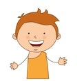 indian boy character icon vector image vector image