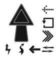 isolated object of element and arrow sign vector image