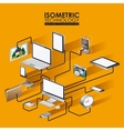 isometrics technology design vector image vector image