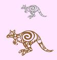 kangaroo decorative vector image vector image