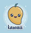 kawaii mango icon vector image vector image