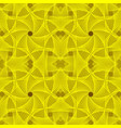 knitted yellow background vector image vector image