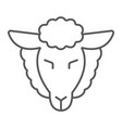 lamb god thin line icon jewish and animal vector image vector image