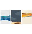 landscape background with japanese wave pattern vector image vector image