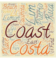 Limon Costa Rica text background wordcloud concept vector image vector image