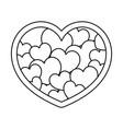 line beauty heart symbol decoration style vector image vector image