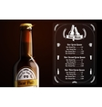 Menu template for beer and alcohol vector image vector image