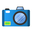 modern digital camera with flashlight and lens vector image