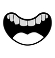 mouth cartoon icon vector image