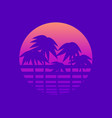 palm trees against a gradient sun in style of vector image vector image