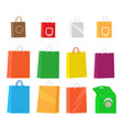 paper packages for shopping collection on white vector image vector image