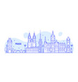 prague skyline czech republic city building vector image vector image