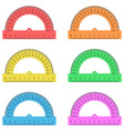 protractor ruler of plastic transparent vector image