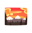 rocky mountains at sunset beautiful nature vector image vector image