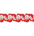Rowan Berries Seamless Border vector image