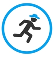 Running Human Figure Rounded Icon vector image vector image