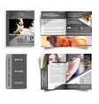 salon and spa brochure template design