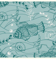 seamless underwater pattern vector image