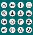 set of 16 editable team icons includes symbols vector image vector image