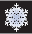 snowflakes white icon vector image vector image