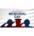 soldiers silhouette saluting usa flag vector image vector image