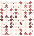 stars pattern red vector image