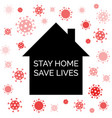 stay home save lives coronavirus quarantine vector image vector image
