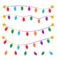 string christmas lights on white background vector image vector image