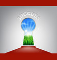 success keyhole concept vector image vector image