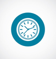 time icon bold blue circle border vector image vector image