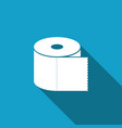 toilet paper roll icon isolated with long shadow vector image