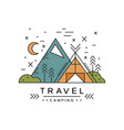 travel camping logo design adventure alpinism vector image vector image