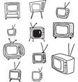 tv doodles vector image