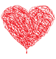 Valentines Sketched Heart vector image vector image