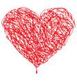 Valentines Sketched Heart vector image