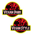 vegan style t-shirt image vegetables vector image vector image