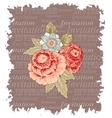 Vintage flowers invitation vector image vector image