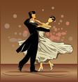 waltz love on brown background vector image vector image