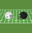 white and black american football helmet vector image vector image