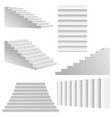 white stairs set vector image