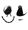 with funny cats vector image
