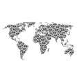 world map pattern of eye icons vector image