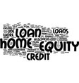 z how does a home equity loan work text vector image vector image