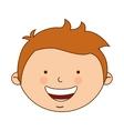 greek boy character icon vector image