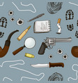 detective crime icons set pattern vector image