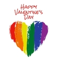 heart in rainbow colors vector image