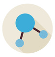 Flat Science Molecule and Atom Structure Circle vector image