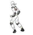 white ninja vector image