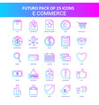 25 blue and pink futuro e-commerce icon pack vector image